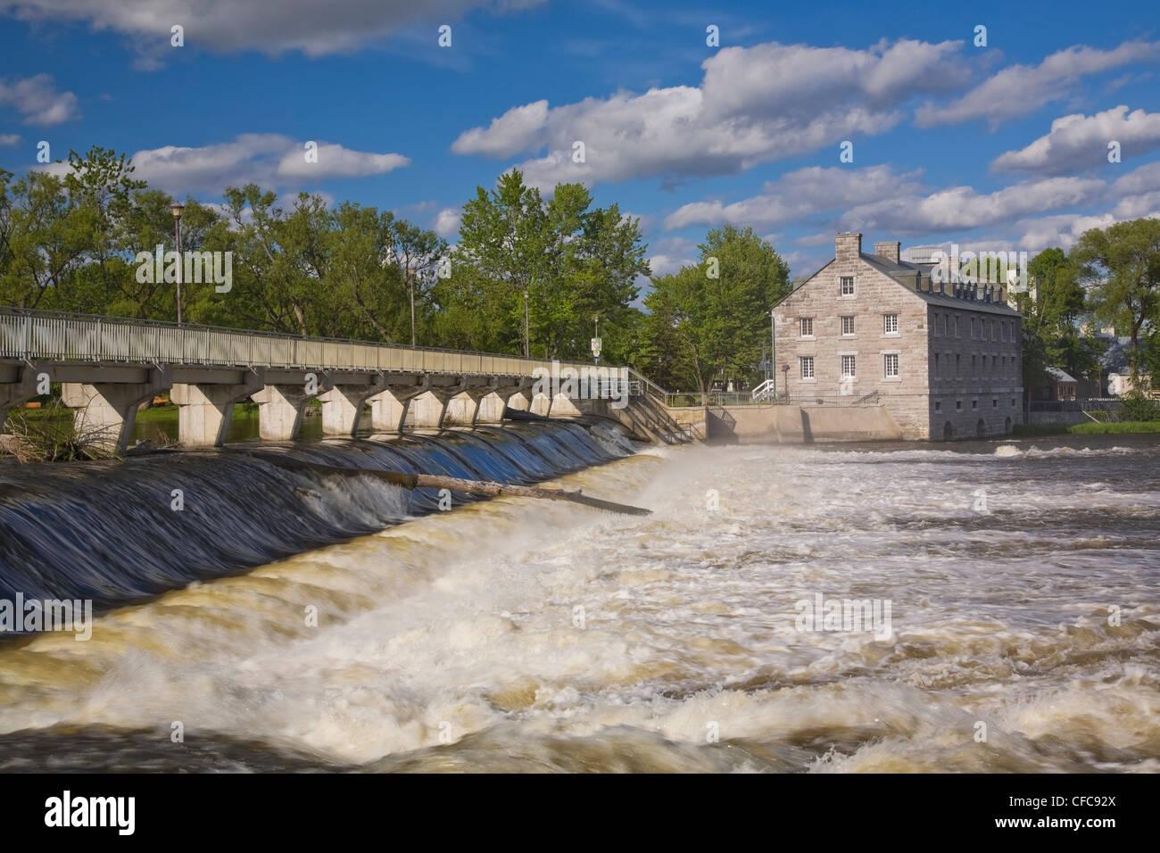 Footbridge Water Flow Control Gates Des Stock Photo