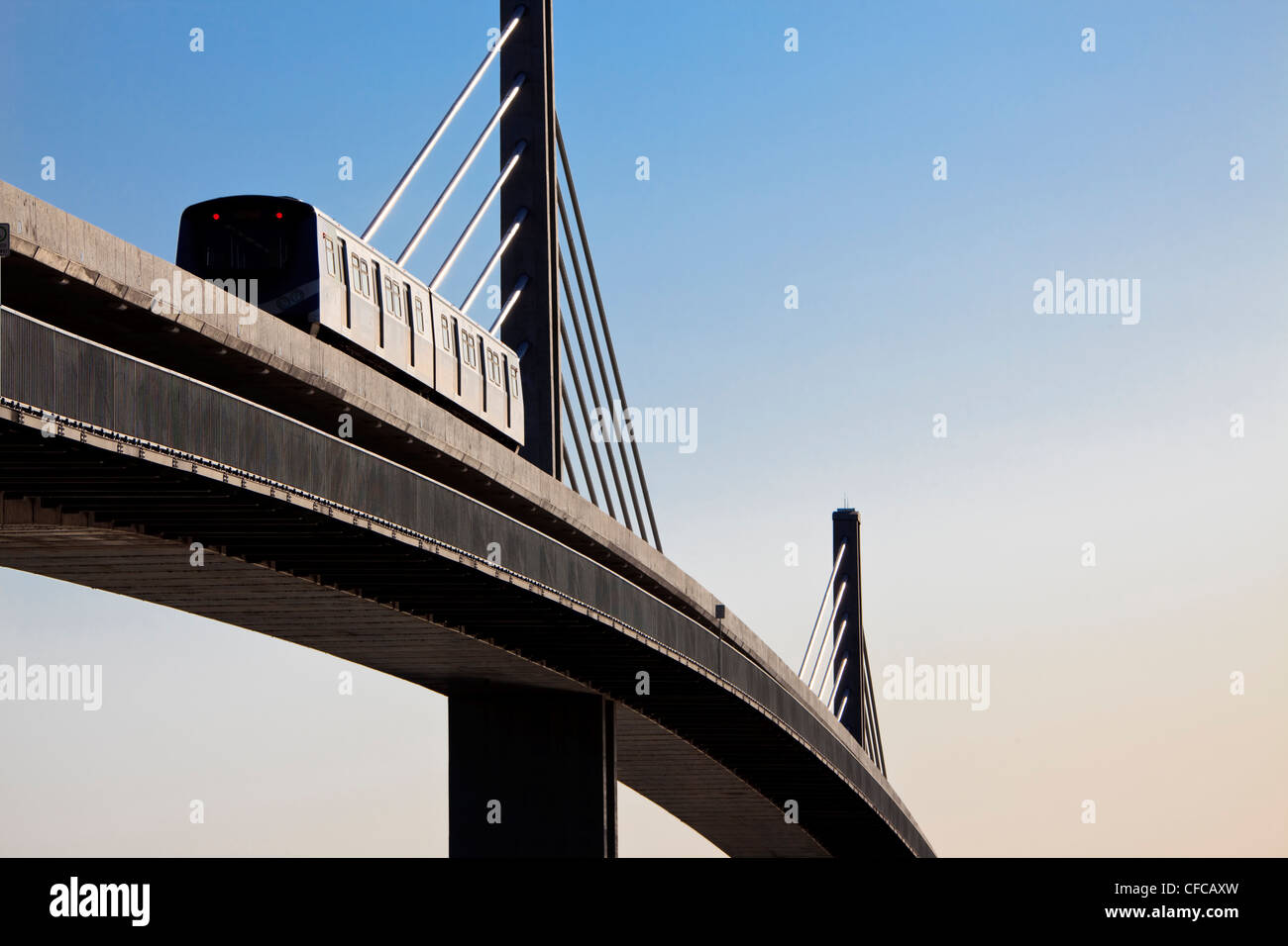 The CanadLine light rapid transit linking Stock Photo
