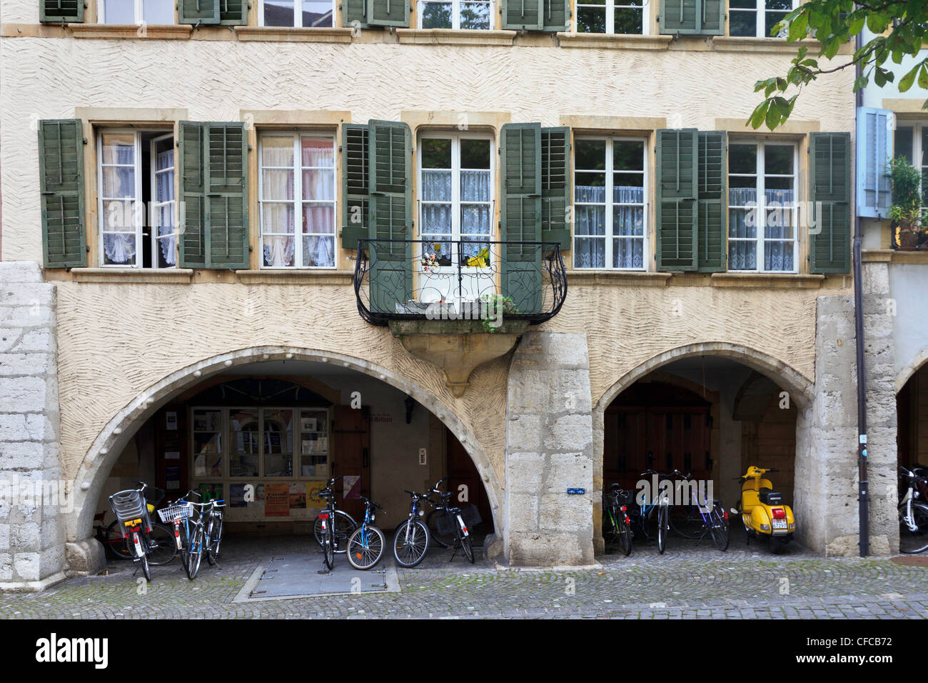 Arcade, Biel, Biel, canton Berne, Europe, Switzerland, old town - Stock Image
