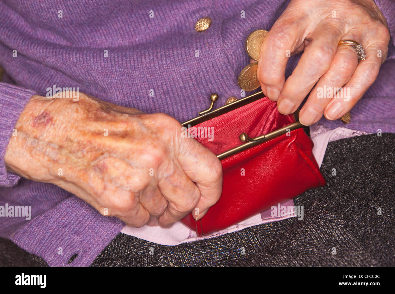 age related concept, povery Stock Photo