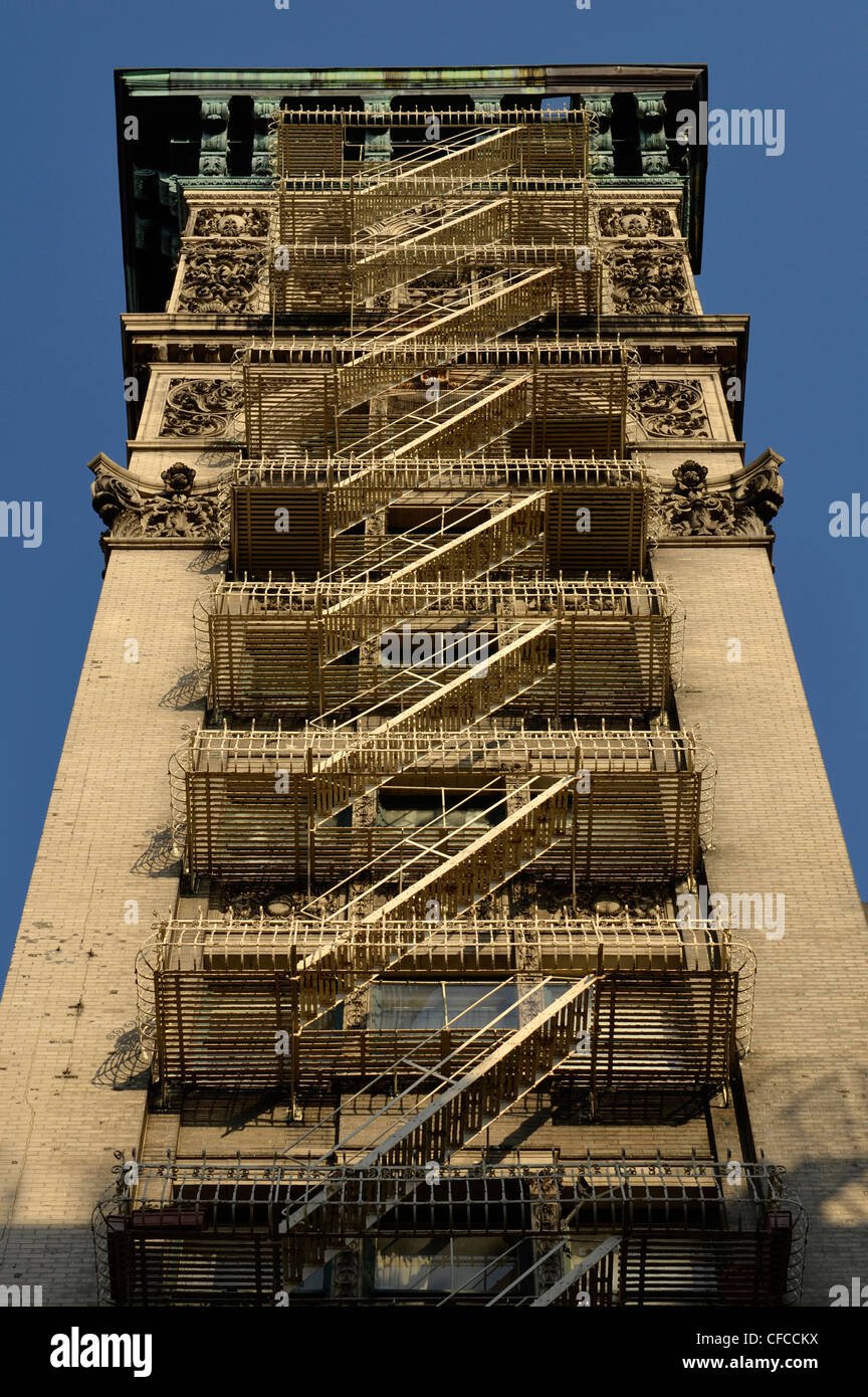 Fire Escape, Tribeca, Manhattan, New York City, New York Stock Photo