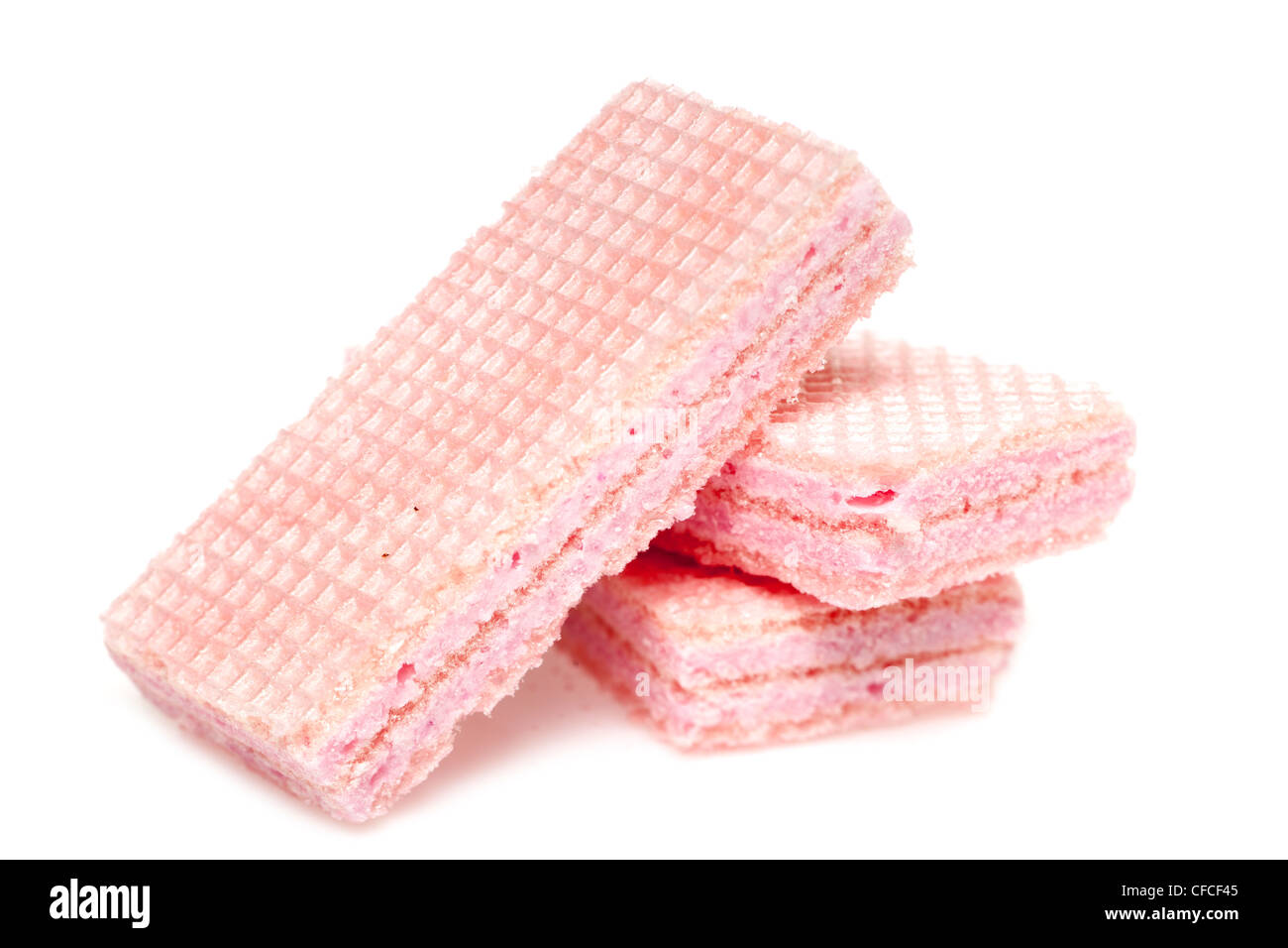 Wafer biscuits - Stock Image