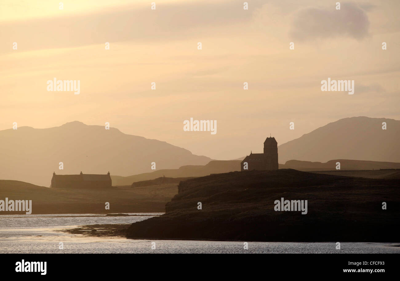 The island of Canna in the Inner Hebrides of the west coast of Scotland. The Island is owned by the Natural Trust - Stock Image