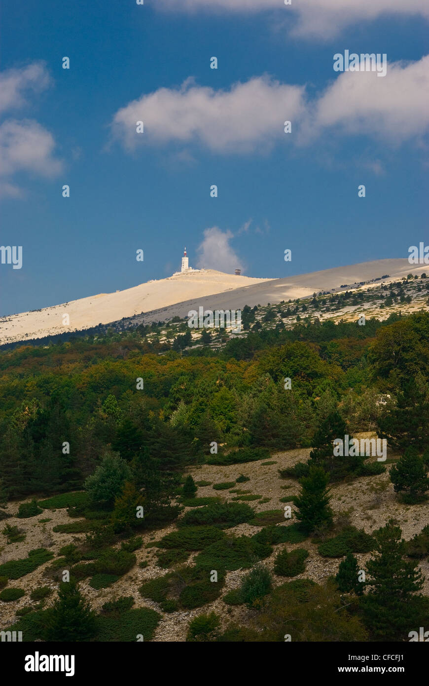 Mont Ventoux is a mountain in the Provence region of southern France Stock Photo