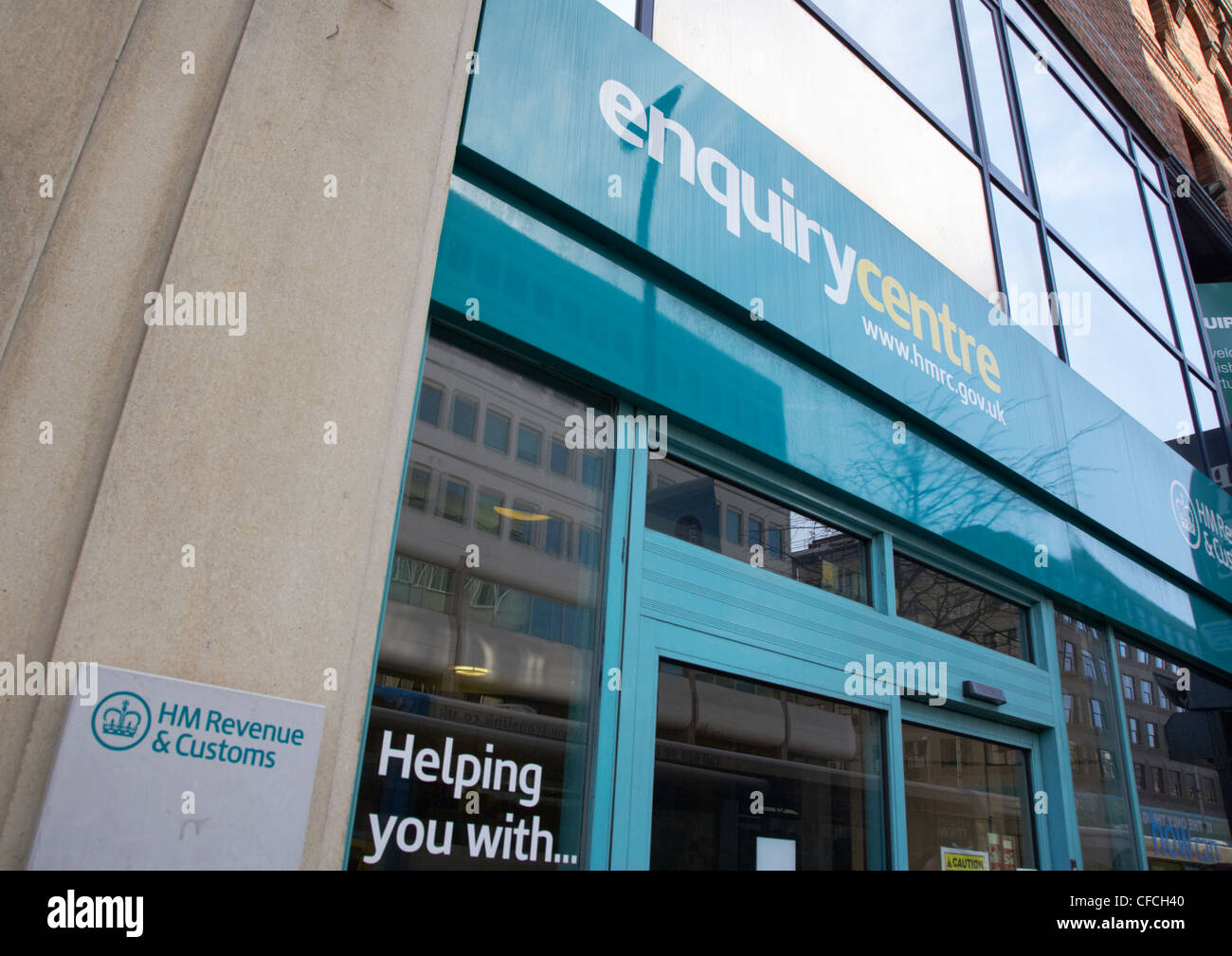 hmrc enquiry office Belfast Northern Ireland UK - Stock Image