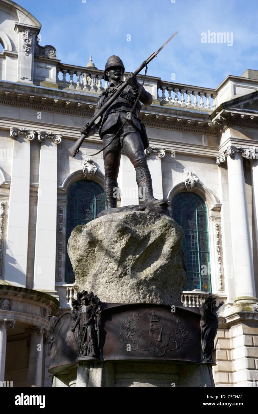 The Boer War Memorial in the grounds of Belfast city hall Northern Ireland UK - Stock Image