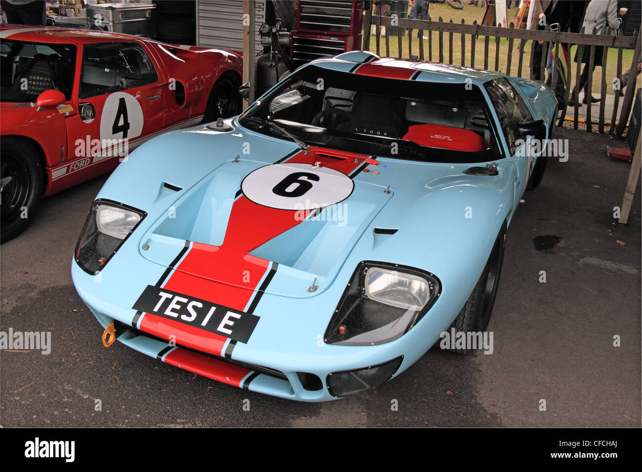 1965 Ford GT40 at Goodwood Revival 2011, Chichester, West Sussex, England, Great Britain, United Kingdom, UK, Europe Stock Photo