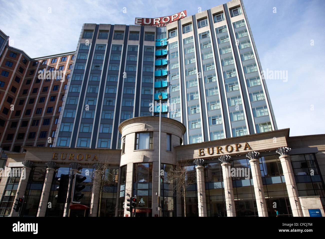The Europa Hotel run by Hastings Belfast Northern Ireland UK - Stock Image
