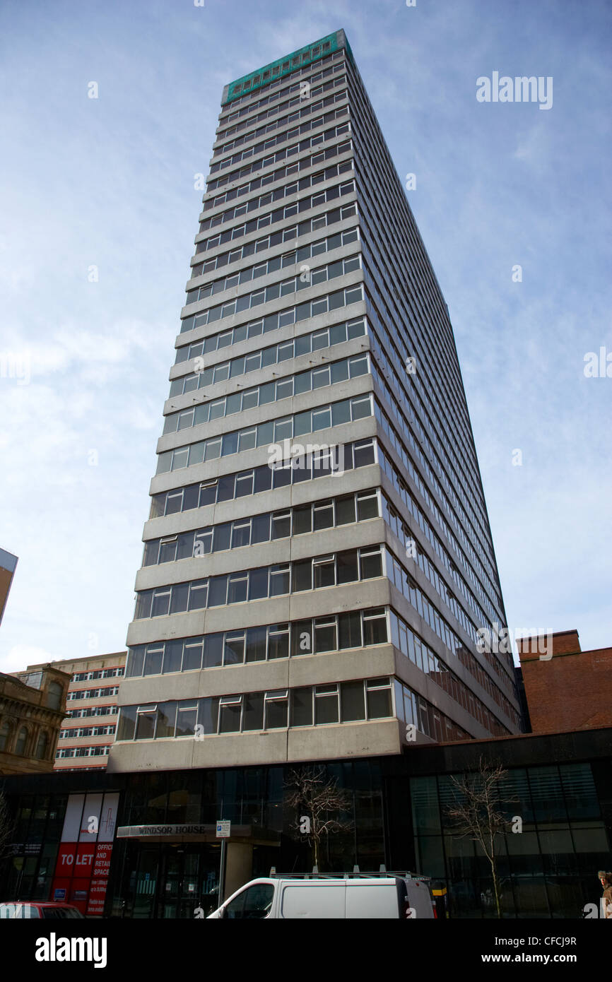Windsor House 9-15 bedford street tall building Belfast Northern Ireland UK. - Stock Image