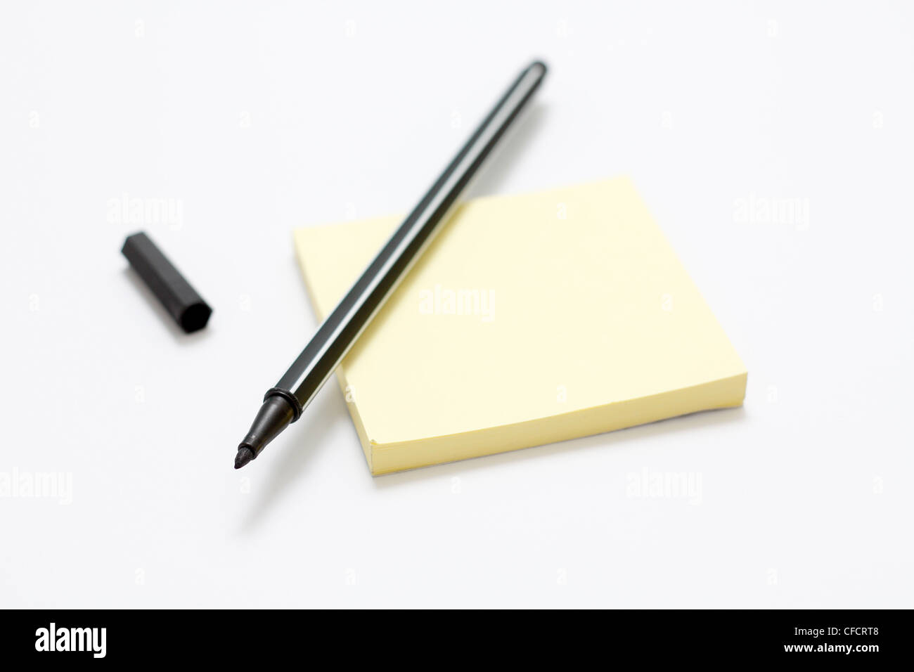 Notepad and pen - Stock Image