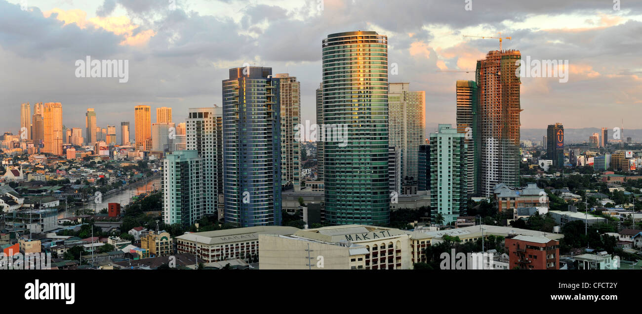 View of Makati, Manila, Philippines, Southeast Asia, Asia - Stock Image