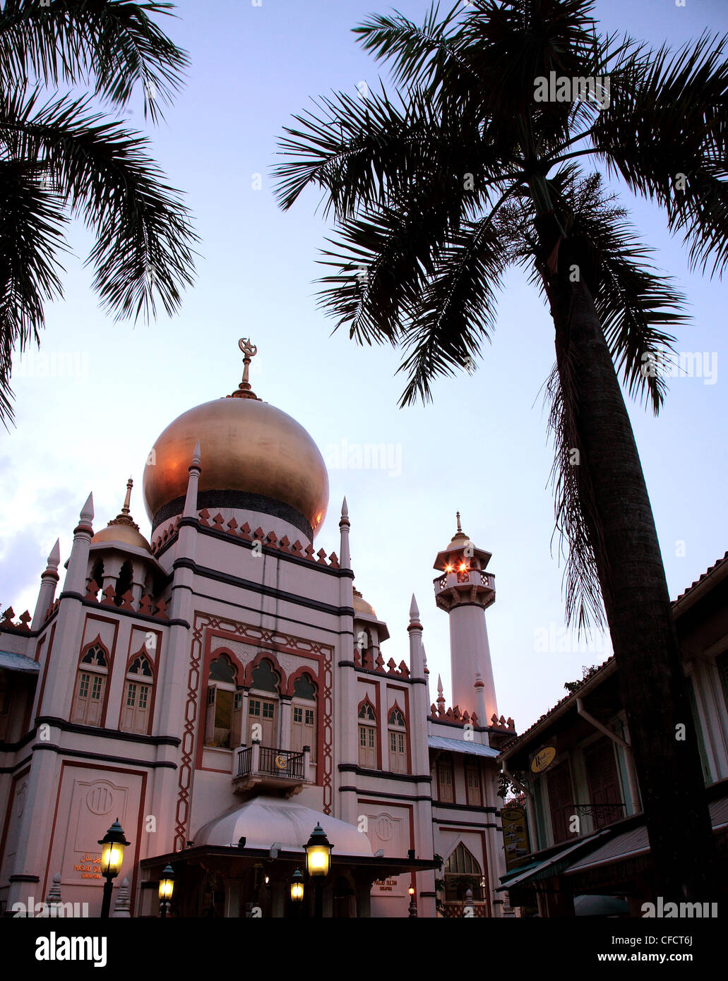 The Sultan Mosque, built in the 1820s, in Kampong Glam, Singapore, Southeast Asia, Asia - Stock Image