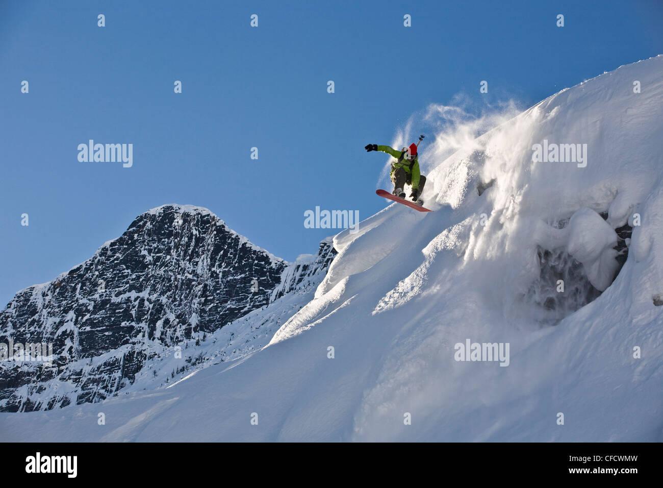 Teen topanga snowboarding the