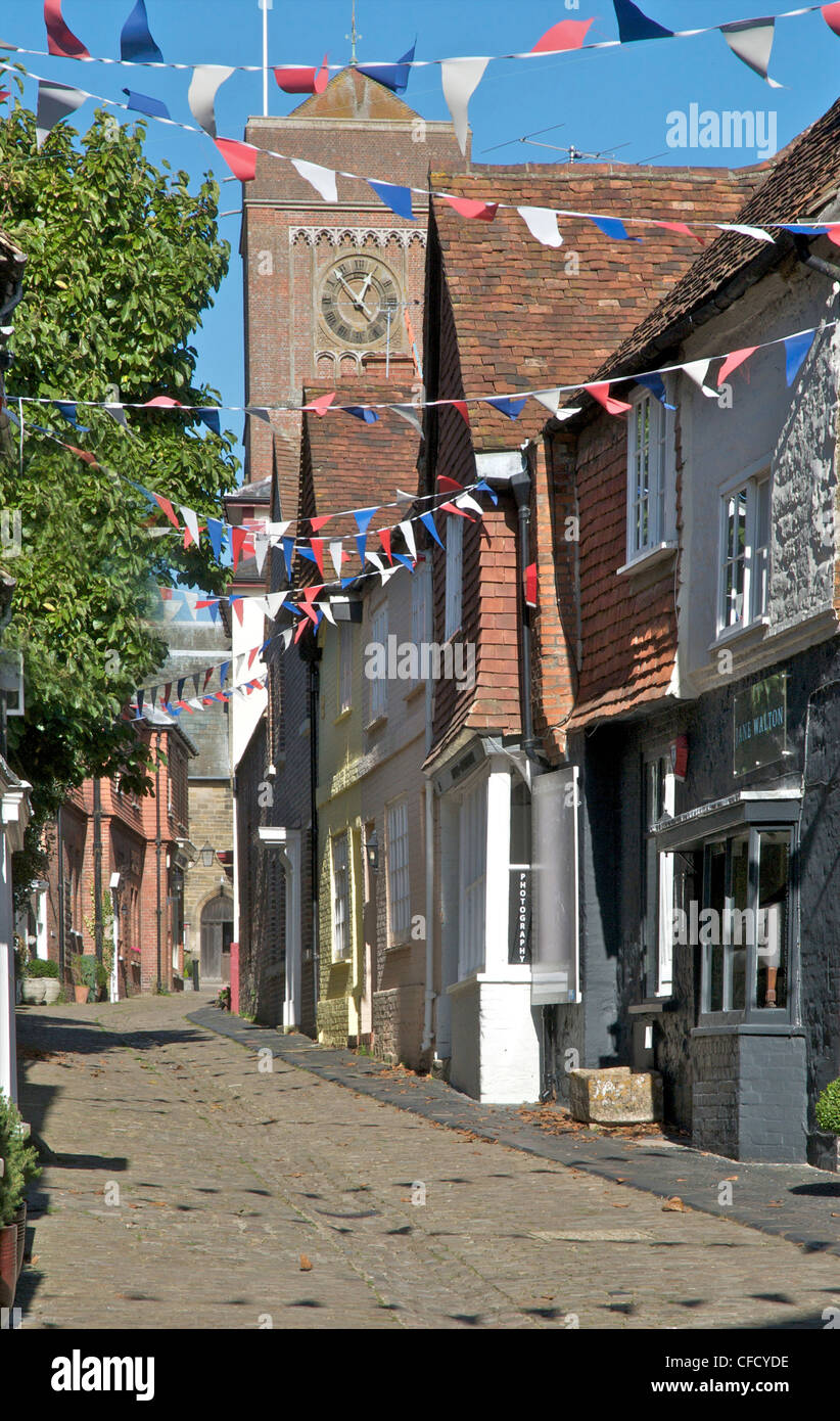 Petworth. Lombard Street in West Sussex market town of Petworth - Stock Image