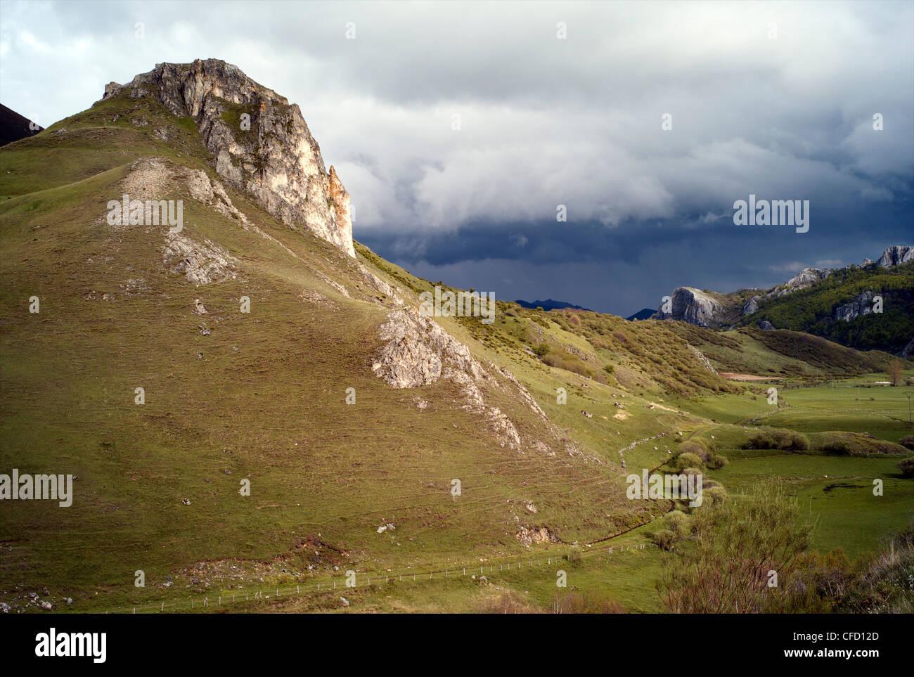 Picos de Europa, Puerto de Ponton, Leon, Spain, Europe - Stock Image