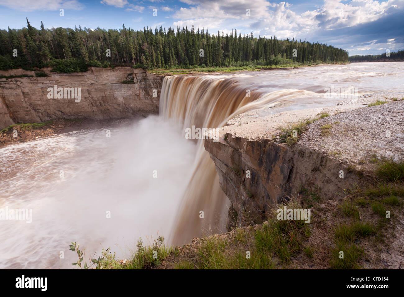 Alexandra Falls, Twin Falls Territorial Park, Northwest Territories, Canada - Stock Image