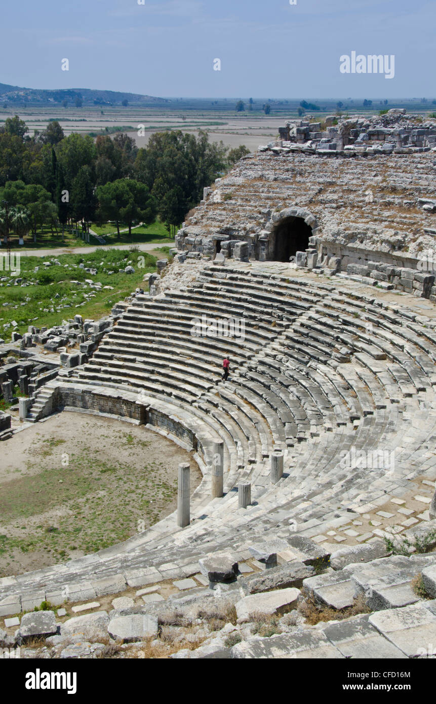 Amphitheatre at Miletus, an ancient Greek city on the western coast of Anatolia, Turkey - Stock Image