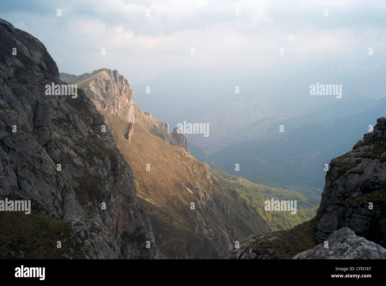 Fuente De, Picos de Europa, Cantabria, Spain, Europe - Stock Image