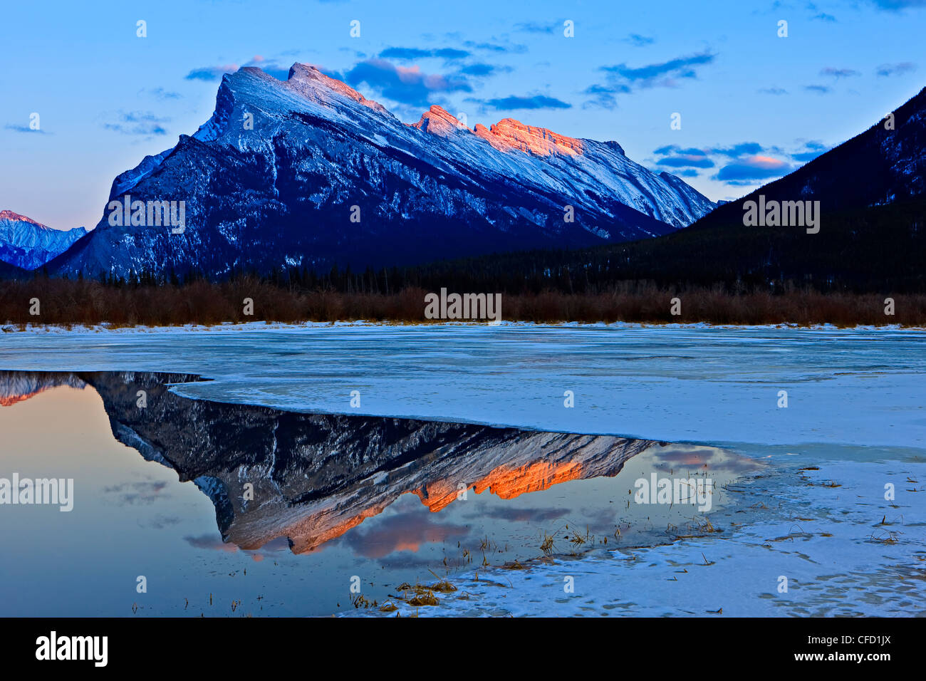 View reflections from left right Fairholme - Stock Image