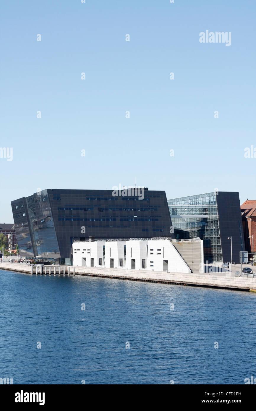 The Black Diamond in Copenhagen Stock Photo