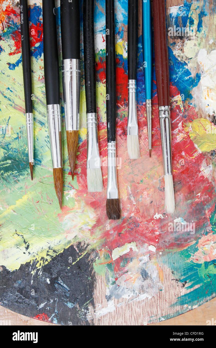 Paintbrushes - Stock Image