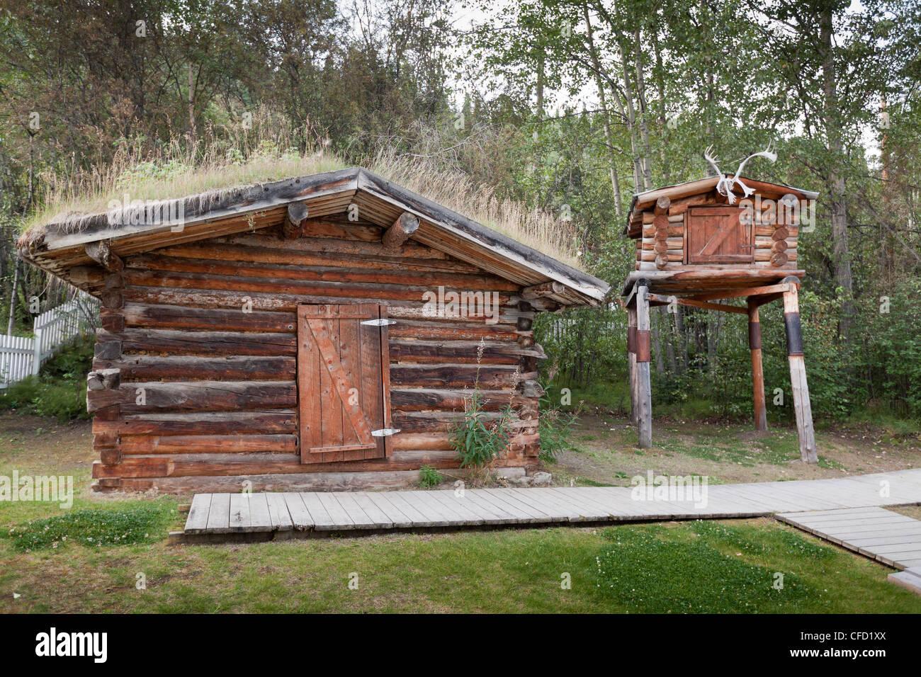Jack London's cabin in Dawson City, Yukon, Canada - Stock Image