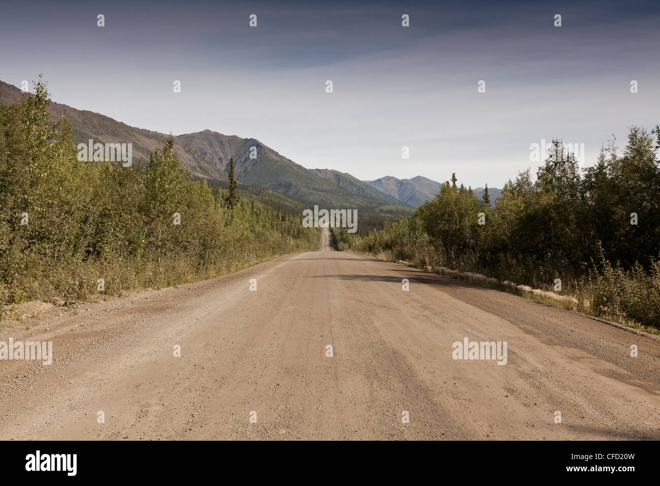 Kilometre 44 on the Dempster Highway, Yukon, Canada - Stock Image