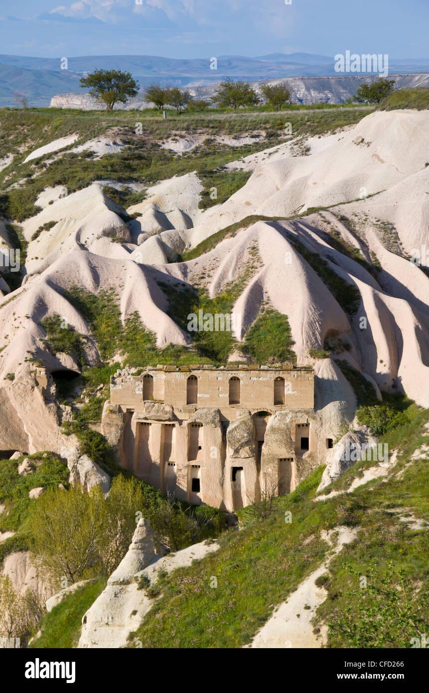 Landforms in Cappadocia, also Capadocia, Central Anatolia, largely in Nevşehir Province, Turkey - Stock Image