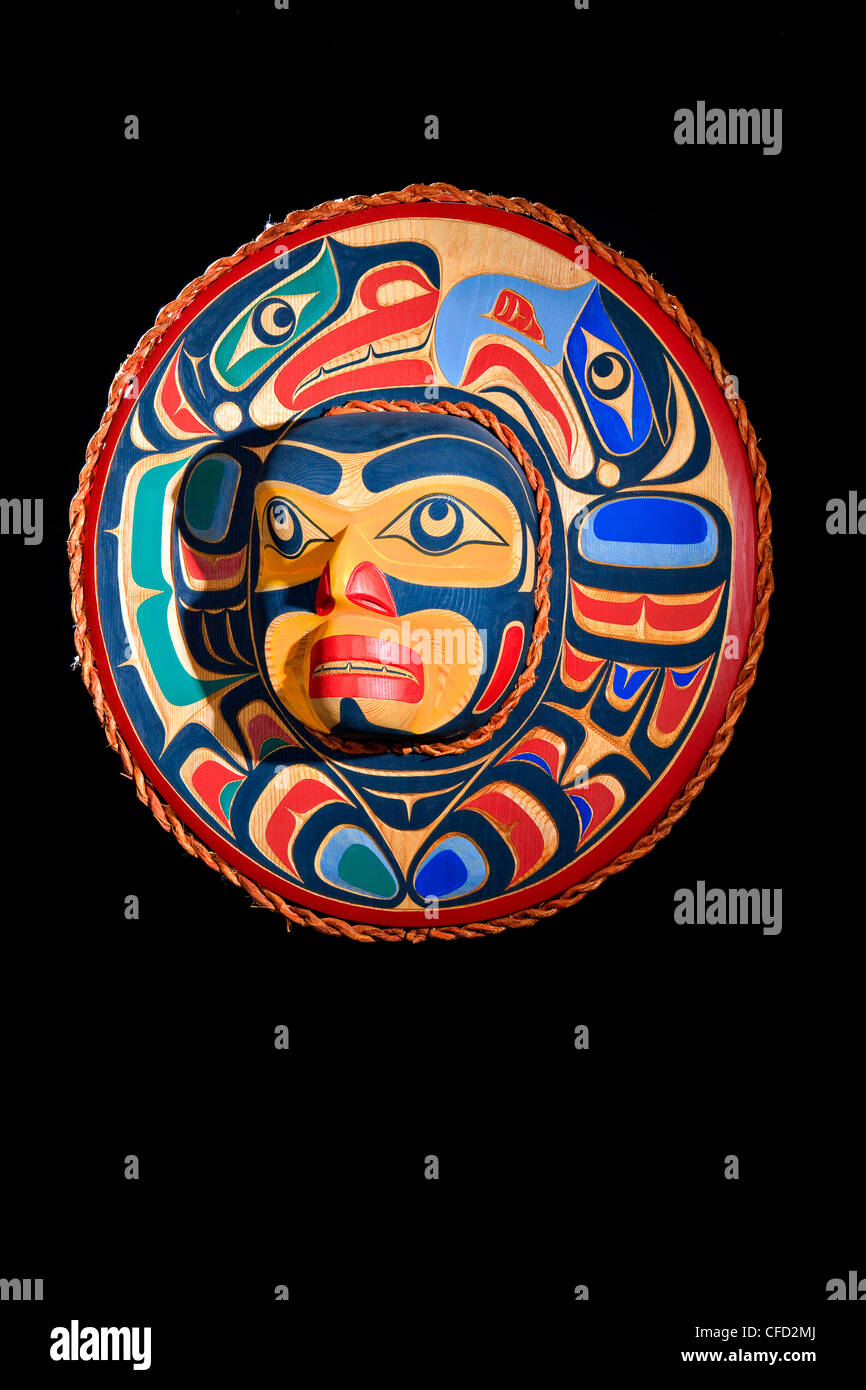 Eagle Selion Moon Mask Trevor Hunt Kwagiulth - Stock Image