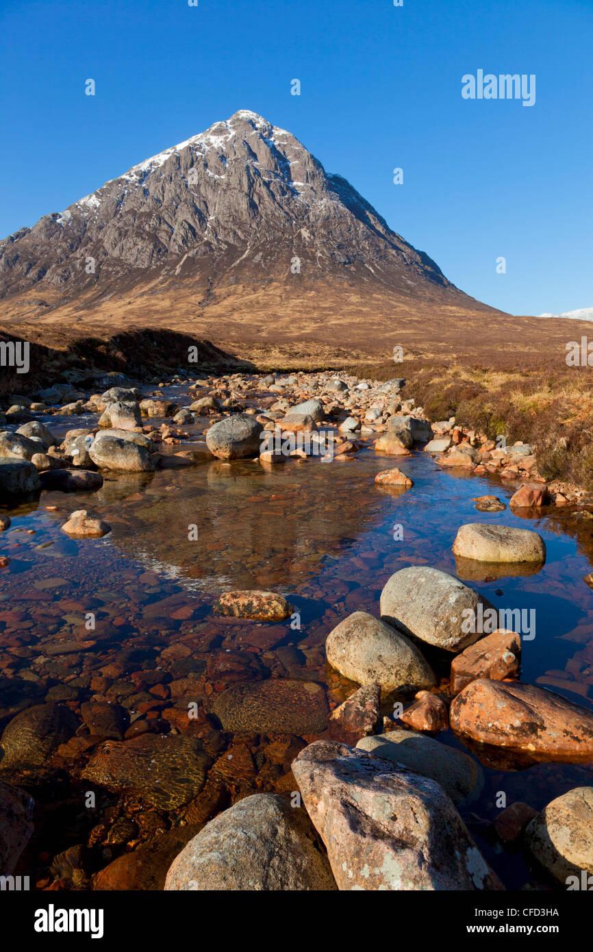 Buachaille Etive Mor, Glen Coe end of Rannoch Moor, Highlands, Scotland, UK - Stock Image