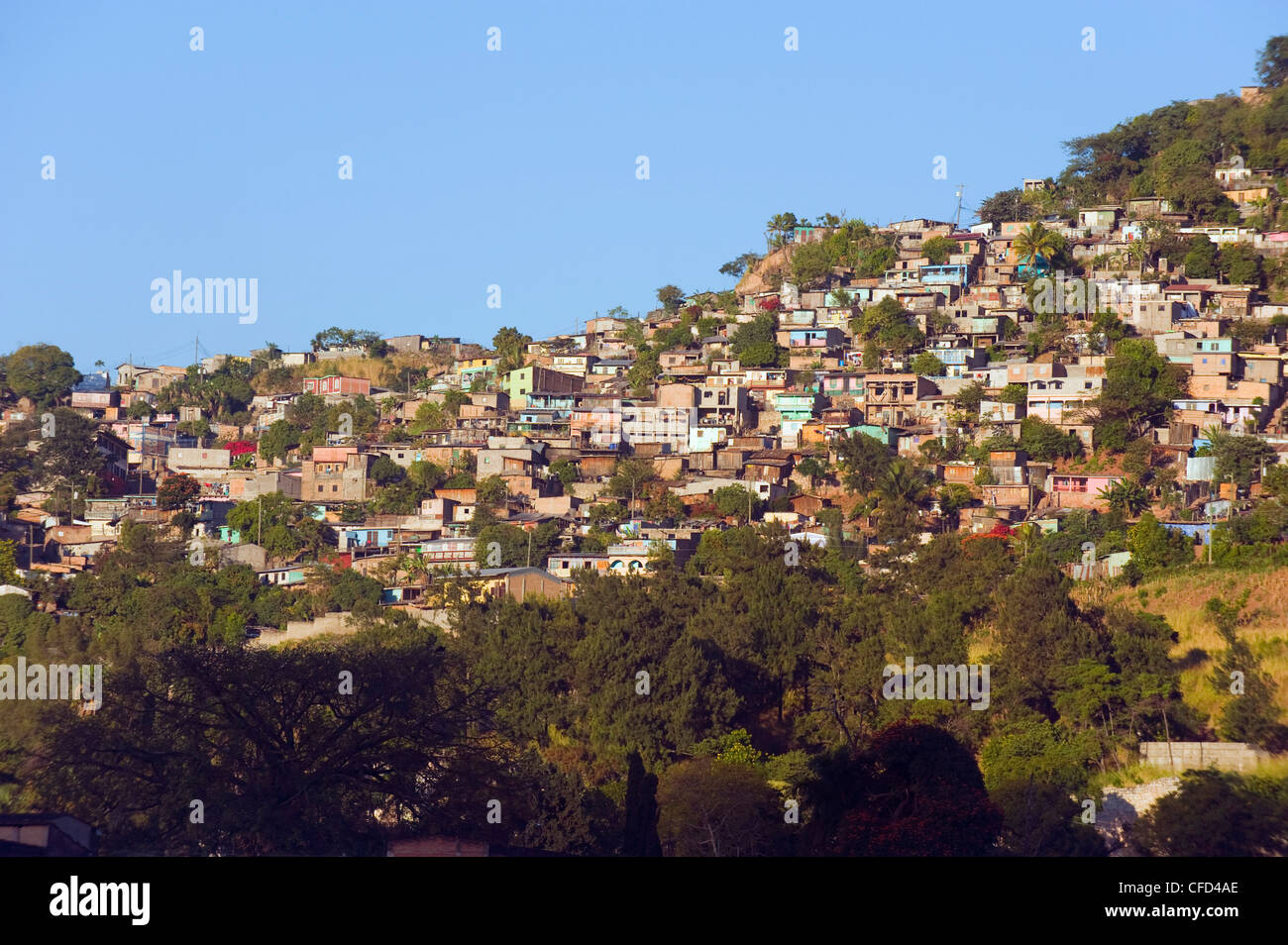 Hillside suburbs of Tegucigalpa, Honduras, Central America - Stock Image