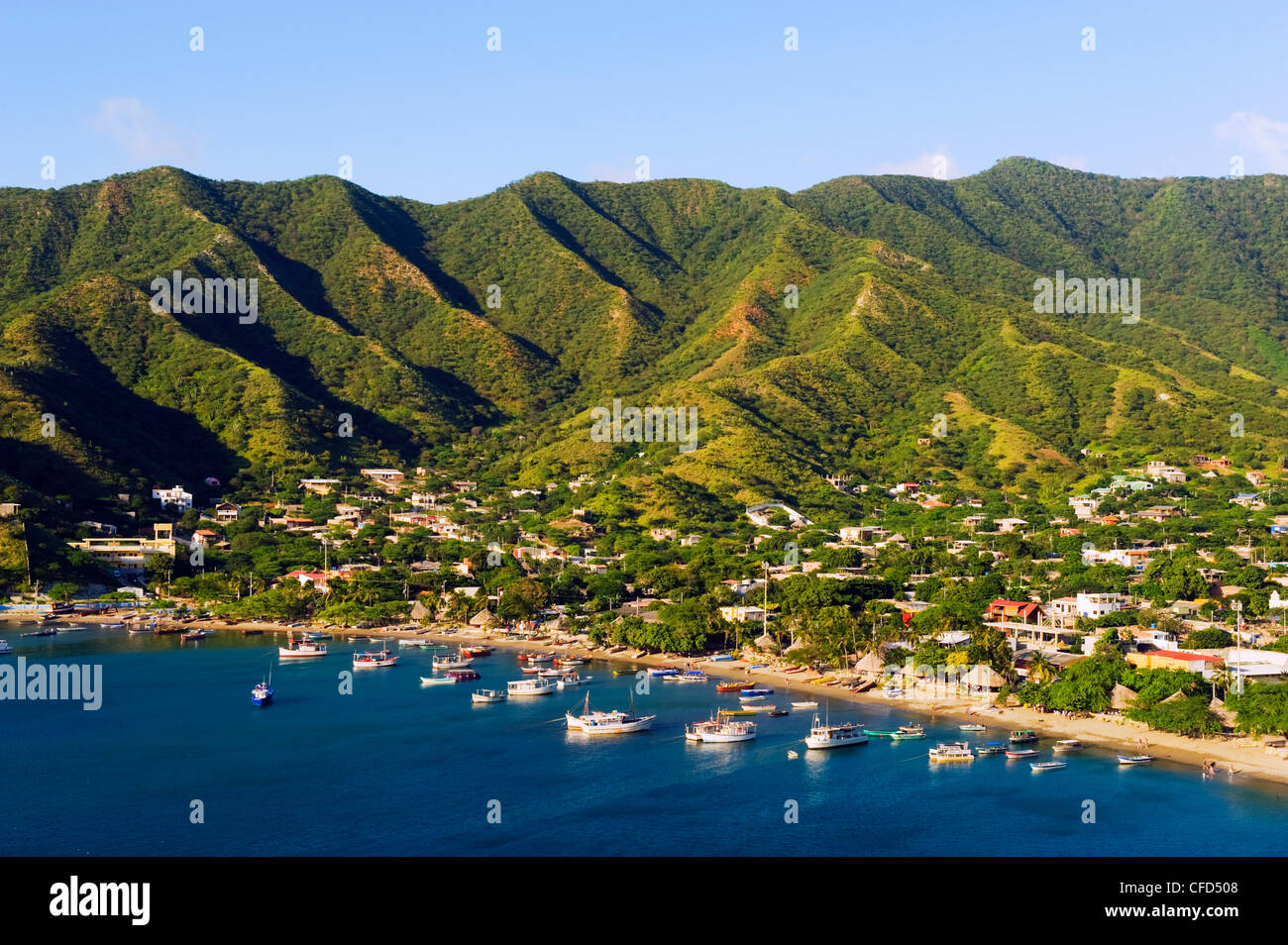 Taganga, Caribbean Coast, Colombia, South America - Stock Image