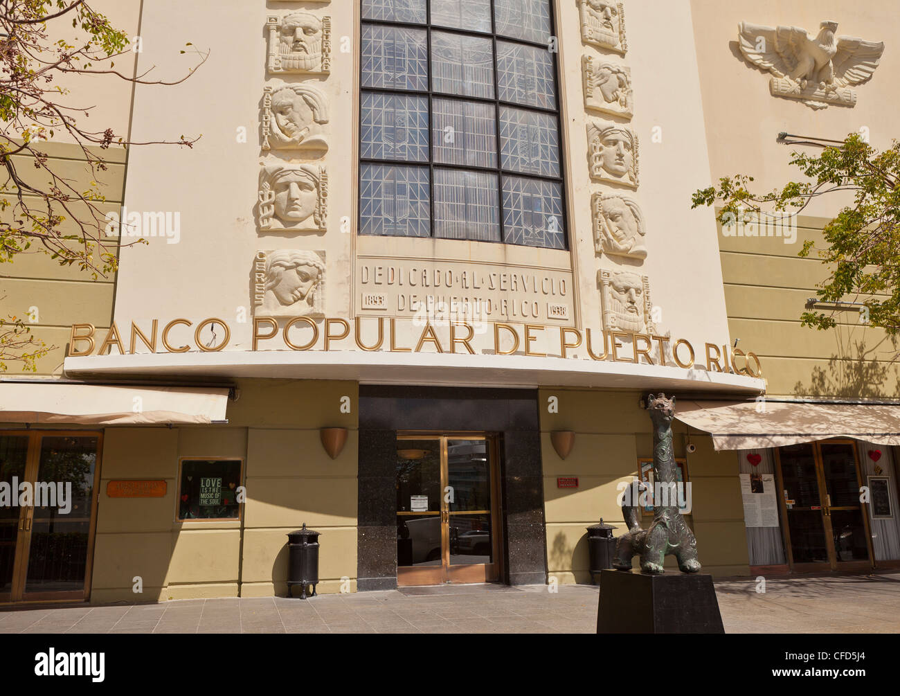 OLD SAN JUAN, PUERTO RICO - Banco Popular de Puerto Rico building. - Stock Image