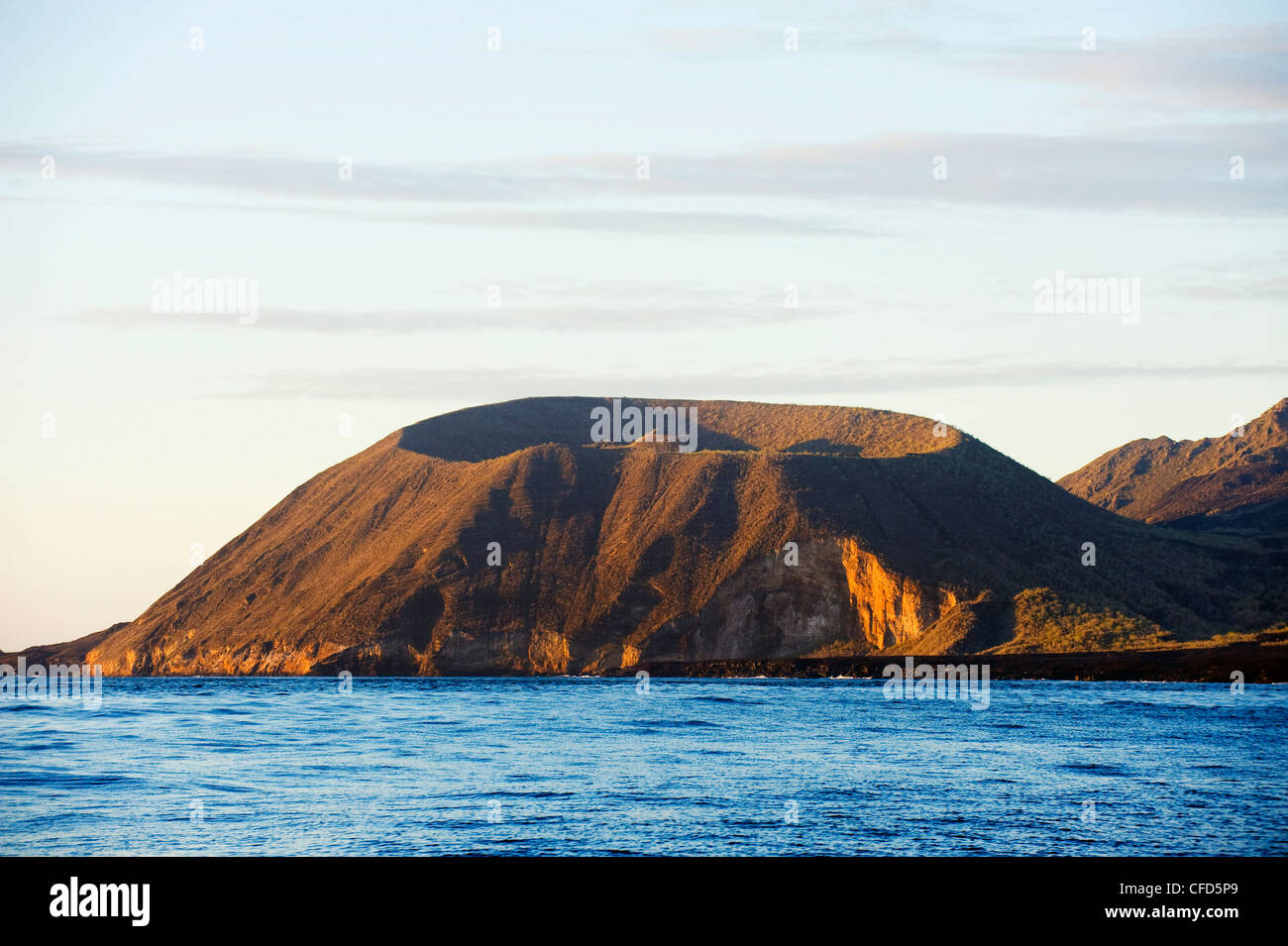 Volcanic crater island, Galapagos Islands, UNESCO World Heritage Site, Ecuador, South America - Stock Image