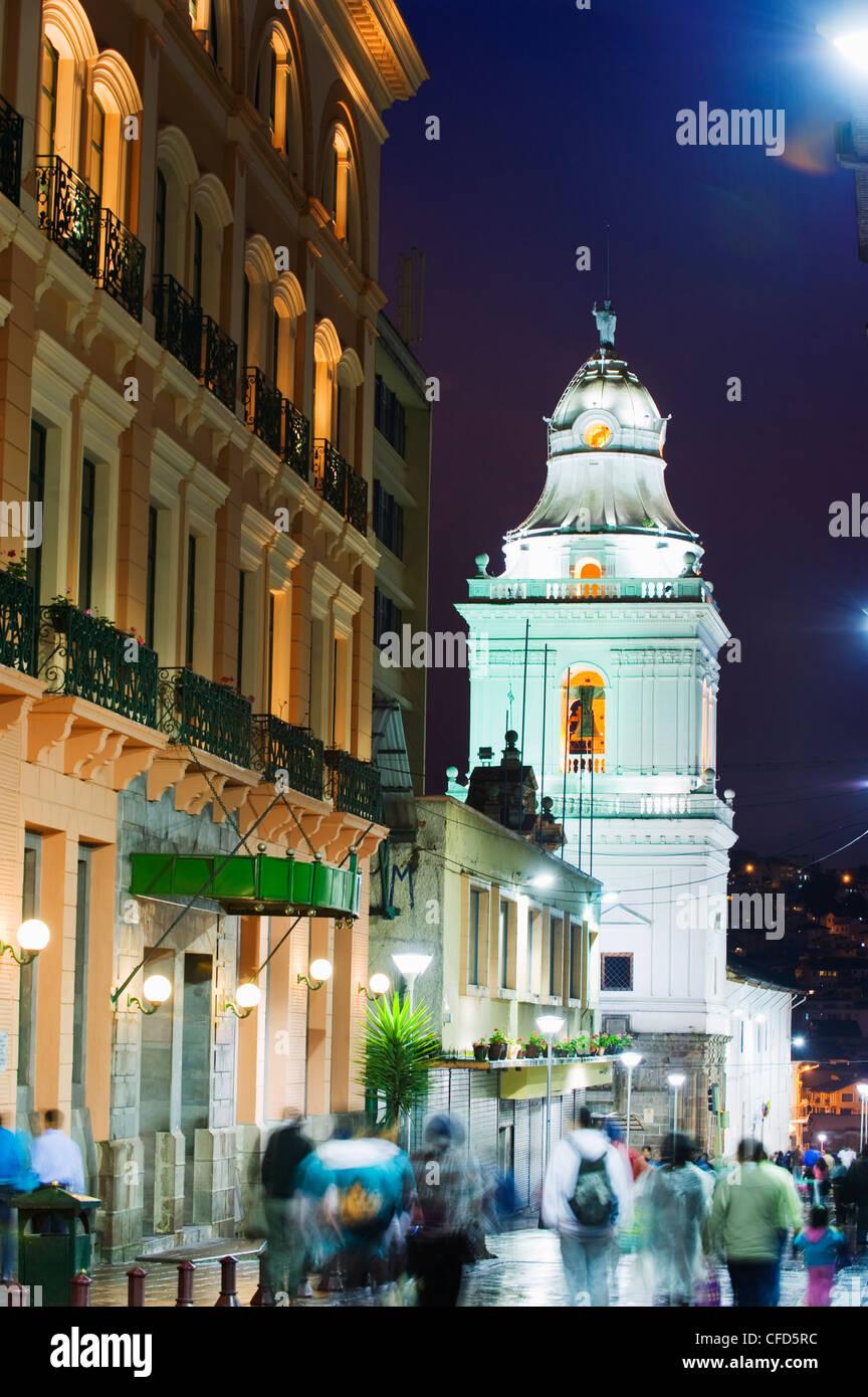 Old town, UNESCO World Heritage Site, Quito, Ecuador, South America - Stock Image