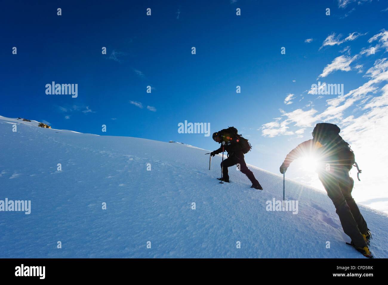 Climbers on El Misti volcano, 5822m, Arequipa, Peru, South America - Stock Image