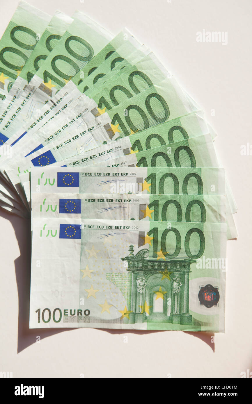money cash euro paper color five hundred one rich expensive background bank europe - Stock Image