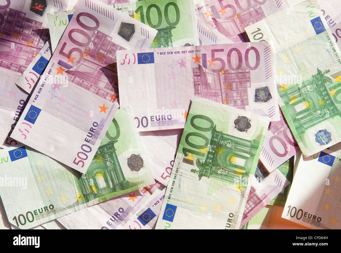 money cash euro paper color five hundred one rich expensive background bank - Stock Image
