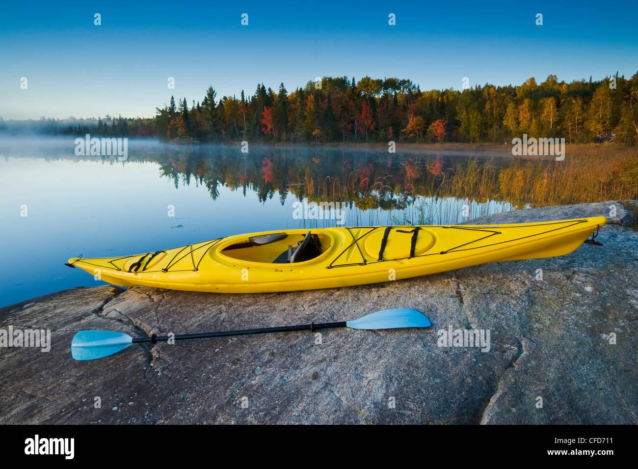 Autumn, Bunny Lake, near Sioux Narrows, Northwestern Ontario, Canada - Stock Image