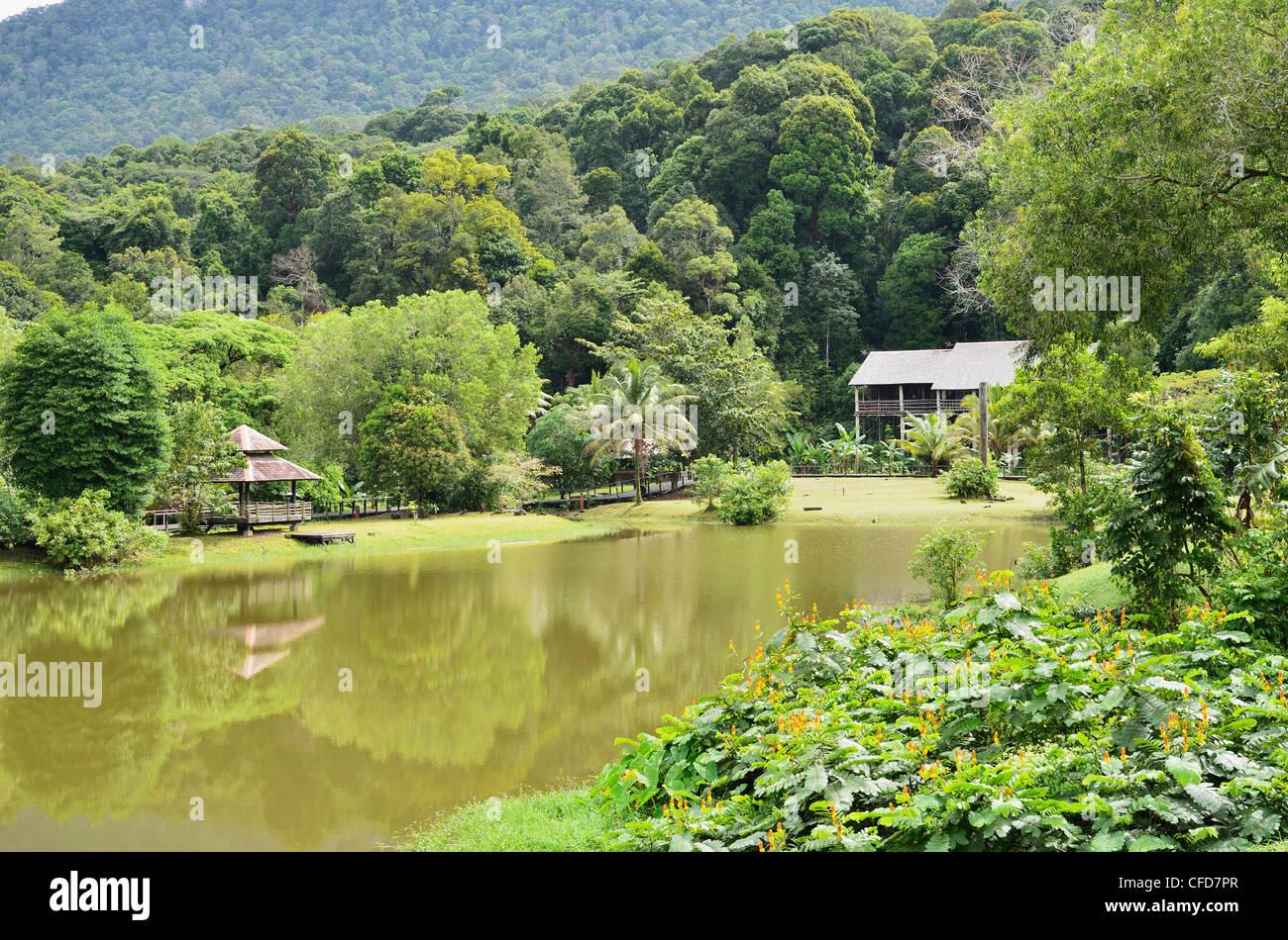 Sarawak Cultural Village, Sarawak, Borneo, Malaysia, Southeast Asia, Asia - Stock Image