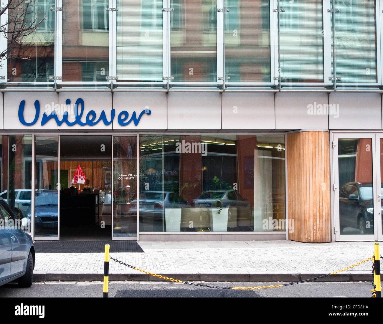 Unilever, Prague, Czech republic, February 29, 2012. (CTK Photo/Krystof Kriz) - Stock Image