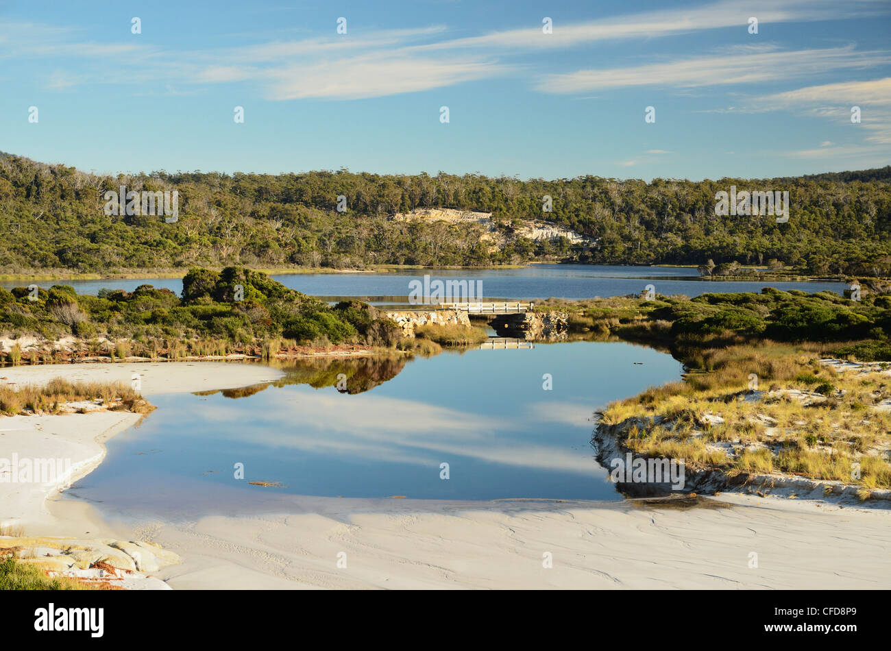 Sloop Lagoon, Bay of Fires, Bay of Fires Conservation Area, Tasmania, Australia, Pacific - Stock Image