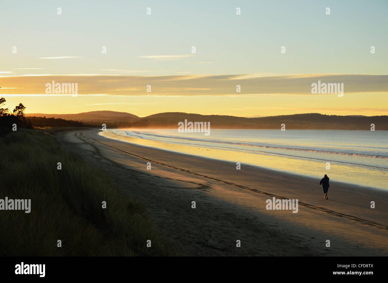 Frederick Henry Bay, Seven Mile Beach, Seven Mile Beach Protected Area, Tasmania, Australia, Pacific - Stock Image