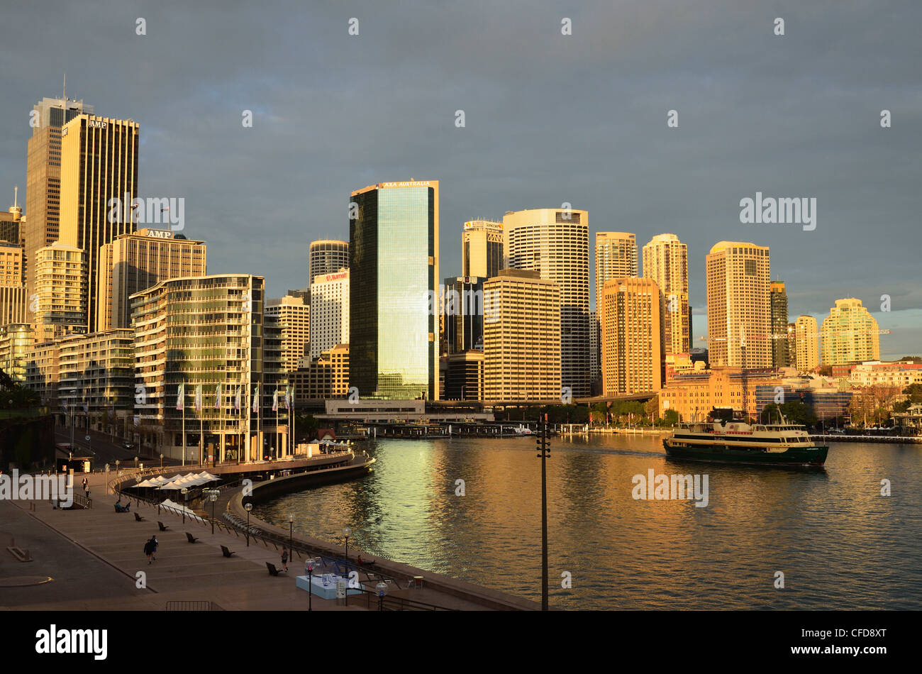 Circular Quay, Sydney Cove and city skyline, Sydney, New South Wales, Australia, Pacific - Stock Image