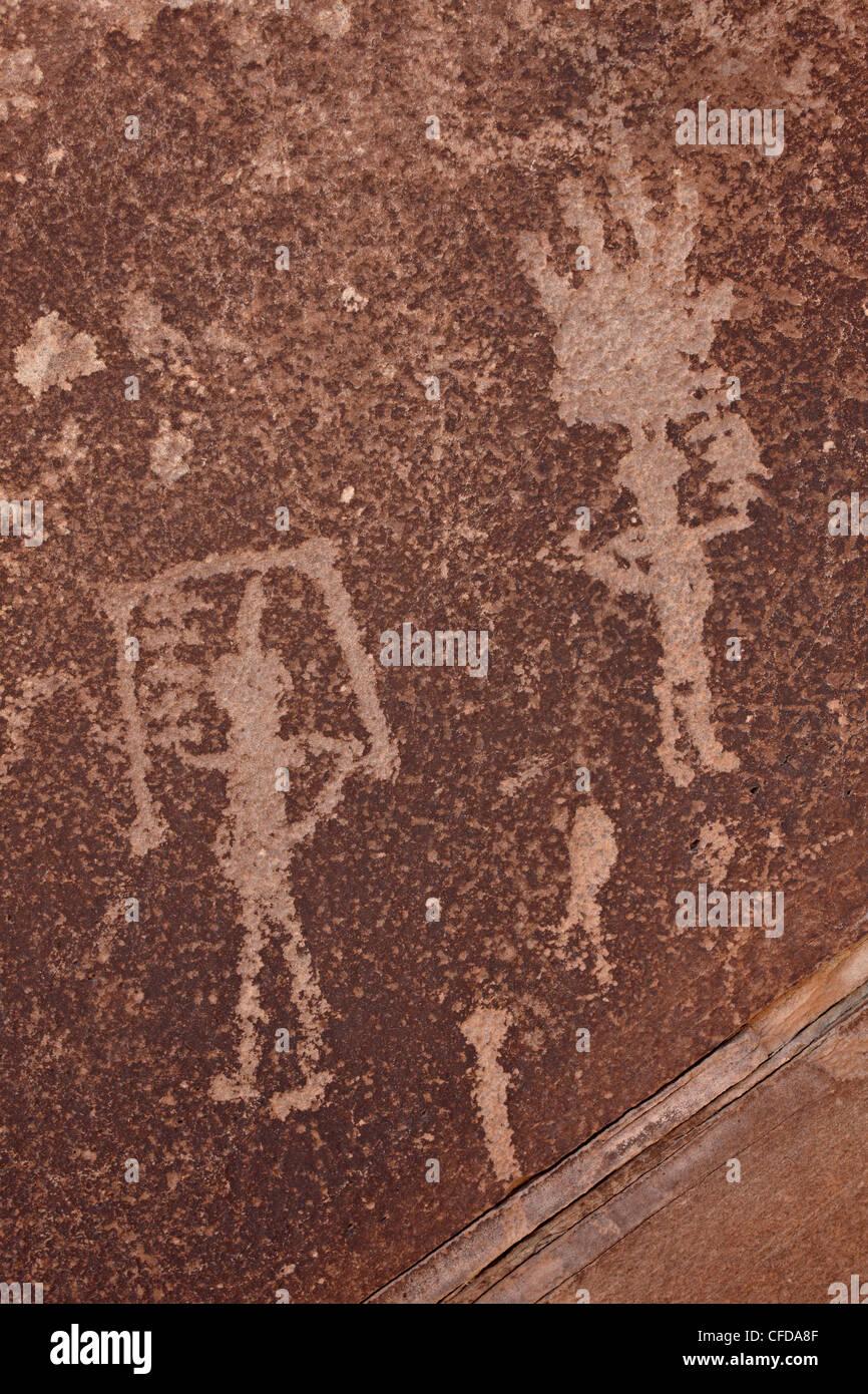 Petroglyphs, Petrified Forest National Park, Arizona, United States of America, - Stock Image