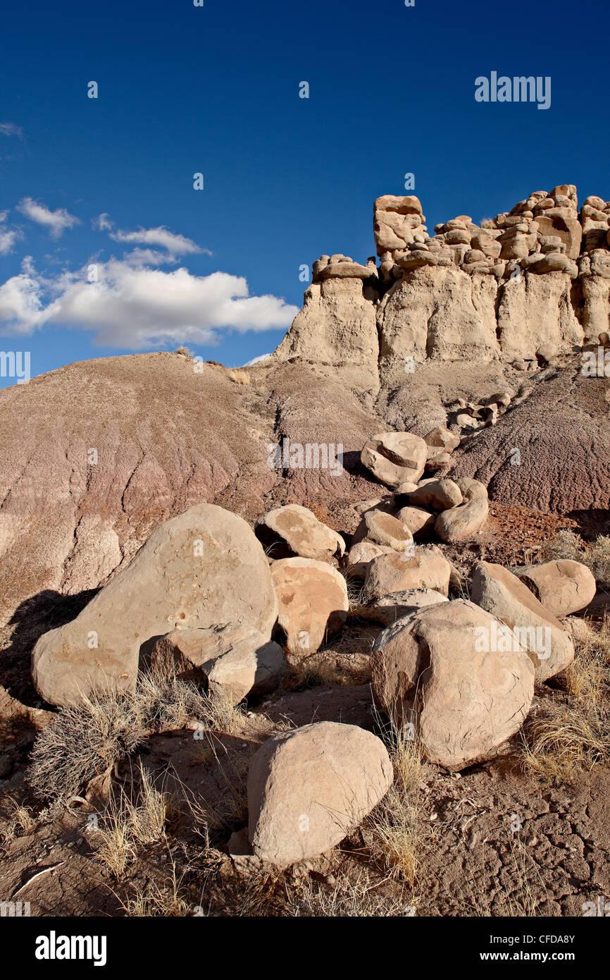 Badlands, Petrified Forest National Park, Arizona, United States of America, - Stock Image