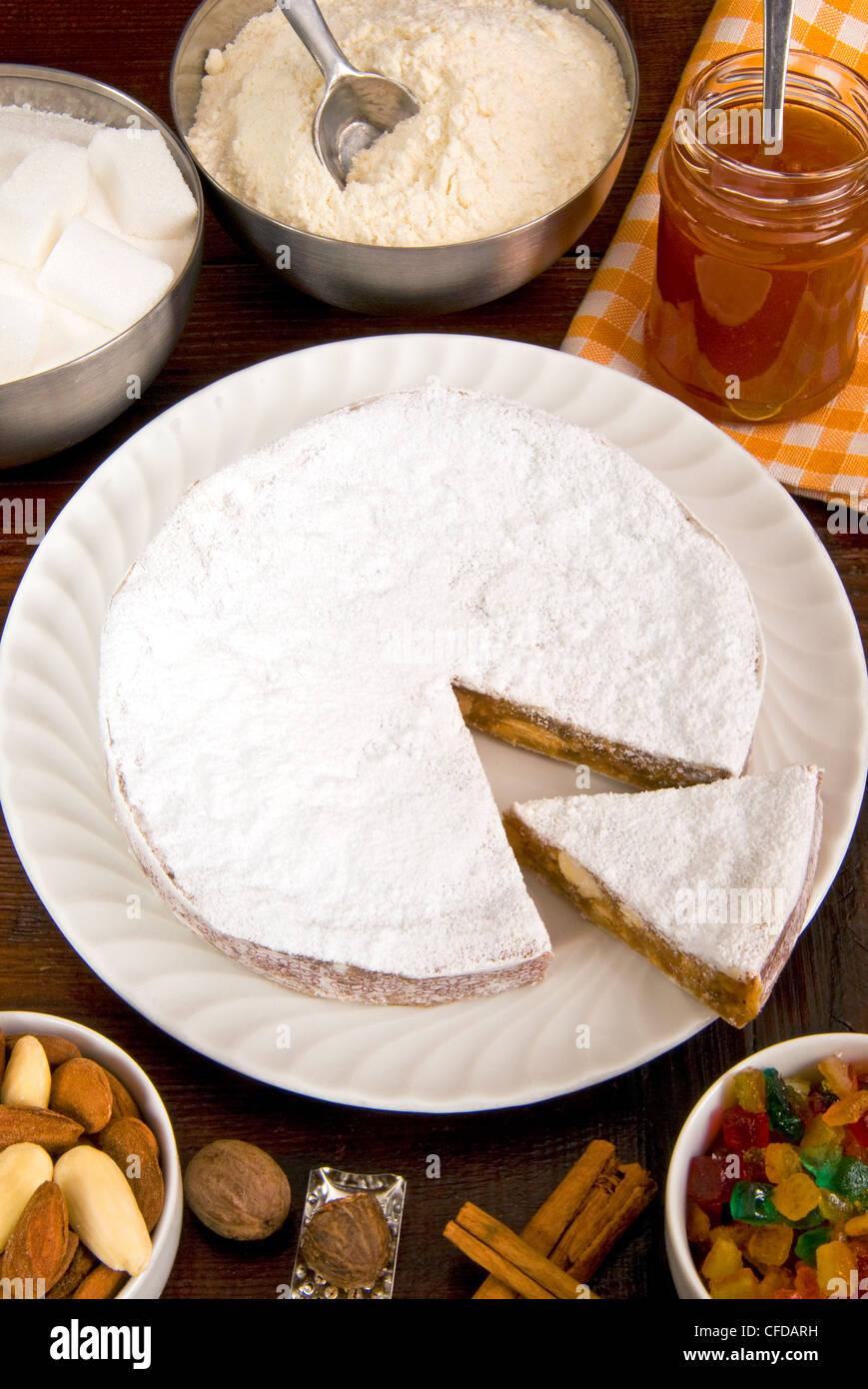 Traditional Italian Christmas Panforte Cake Stock Photos ...