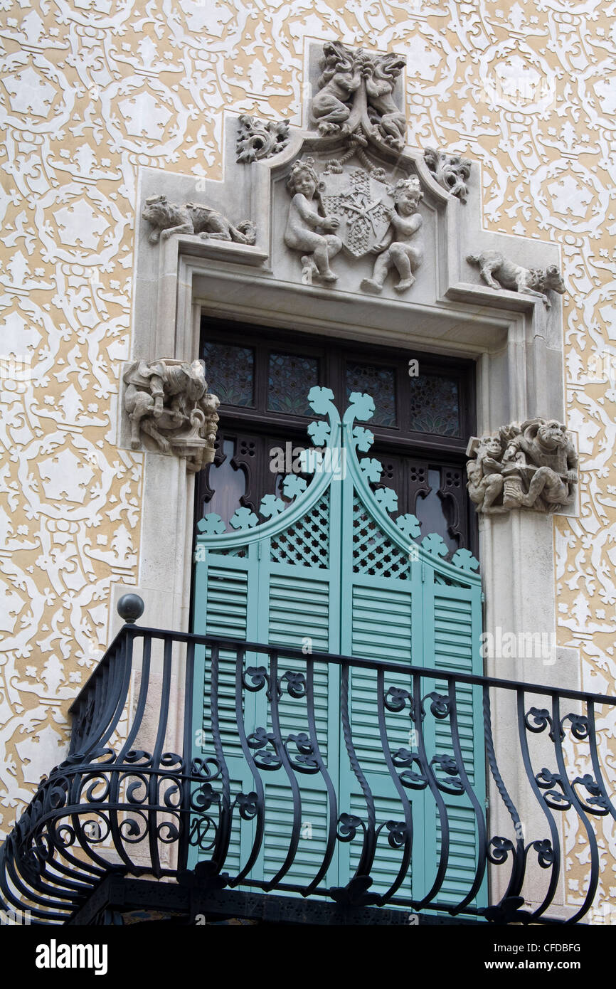 Casa Amatller by Josep Puig Cadafalch, Barcelona, Catalonia, Spain, Europe - Stock Image