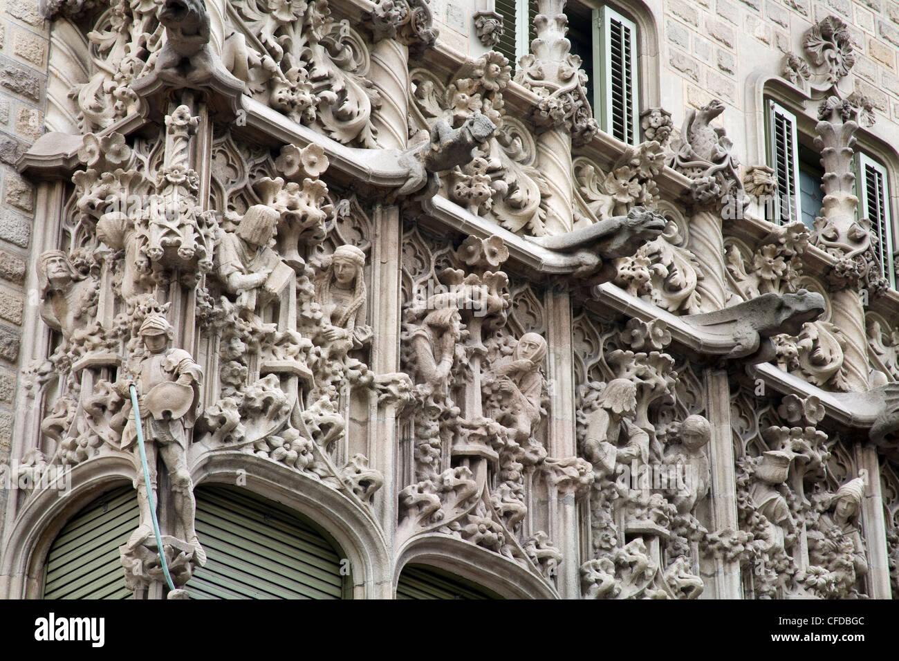 Palau del Baro Quadras by Josep Puig Cadafalch, Barcelona, Catalonia, Spain, Europe - Stock Image