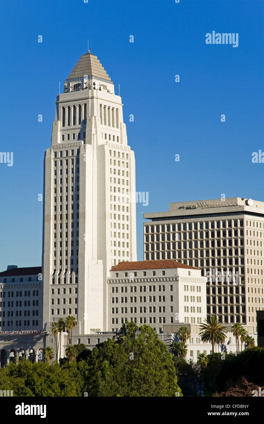 Los Angeles City Hall, California,United States of America, - Stock Image